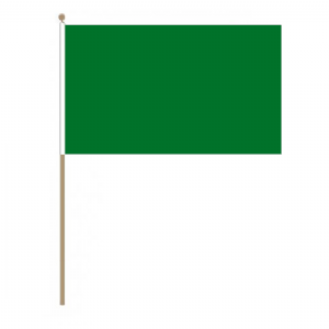 Plain Green Hand Flag - Large